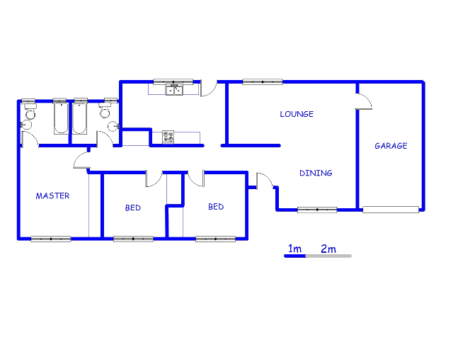 Floor plan of the property in Bronkhorstspruit