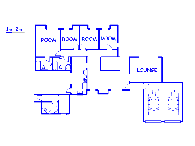 Floor plan of the property in Hayfields