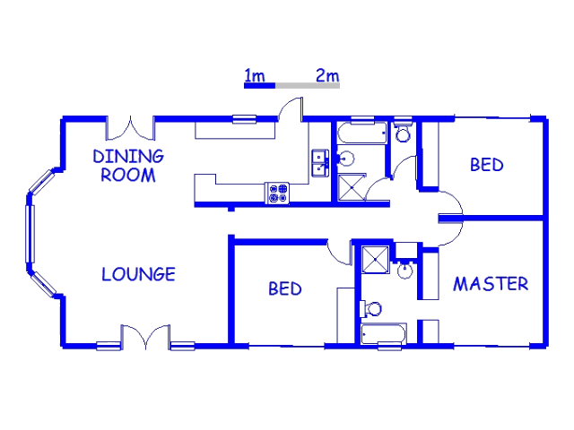 Floor plan of the property in Glen Anil