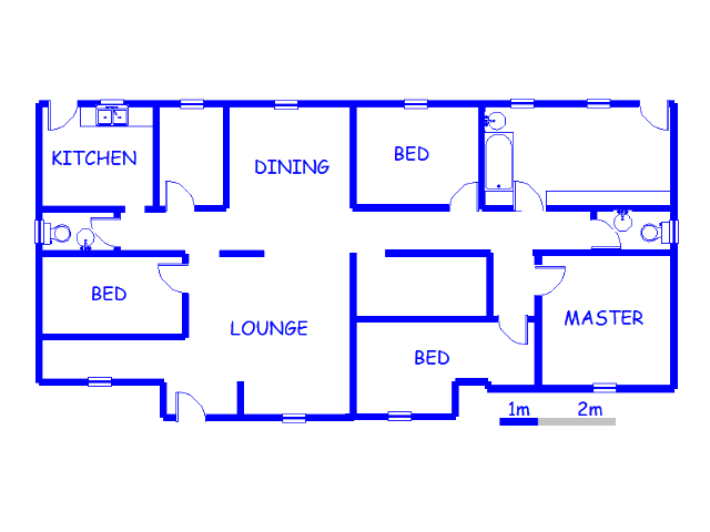Floor plan of the property in Dunnottar