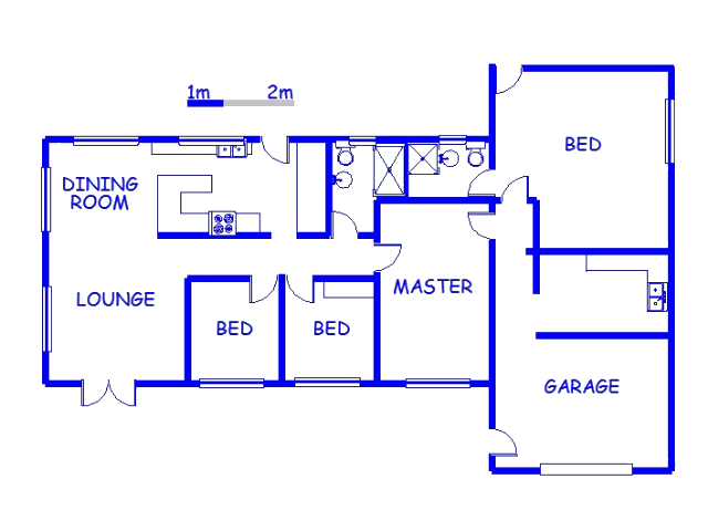 Floor plan of the property in Pietermaritzburg
