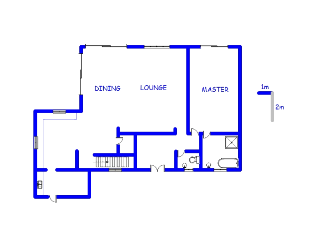 Floor plan of the property in Sable Hills