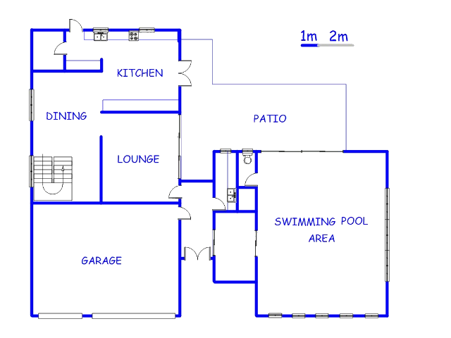Floor plan of the property in Olympus