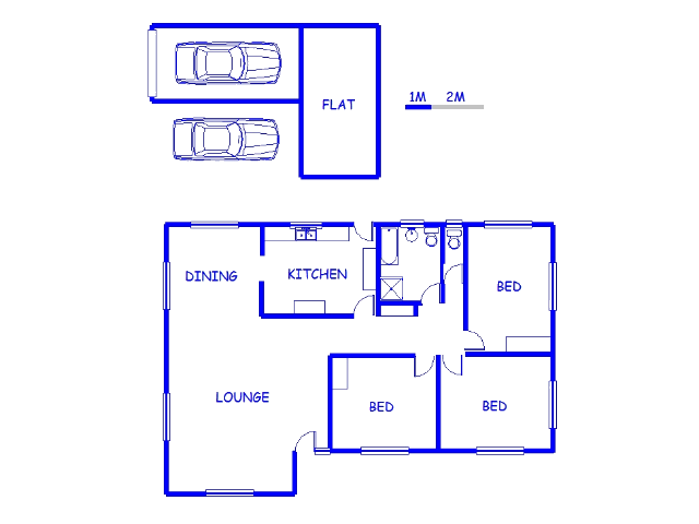 Floor plan of the property in Uitenhage Upper Central