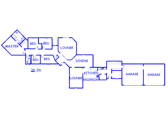 Floor plan of the property in Marister AH