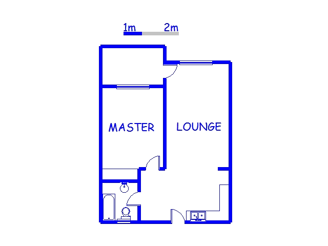 Floor plan of the property in Morningside - DBN