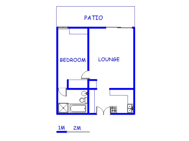 Floor plan of the property in Klerksdorp