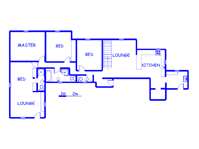 Floor plan of the property in Van Ryn S/H