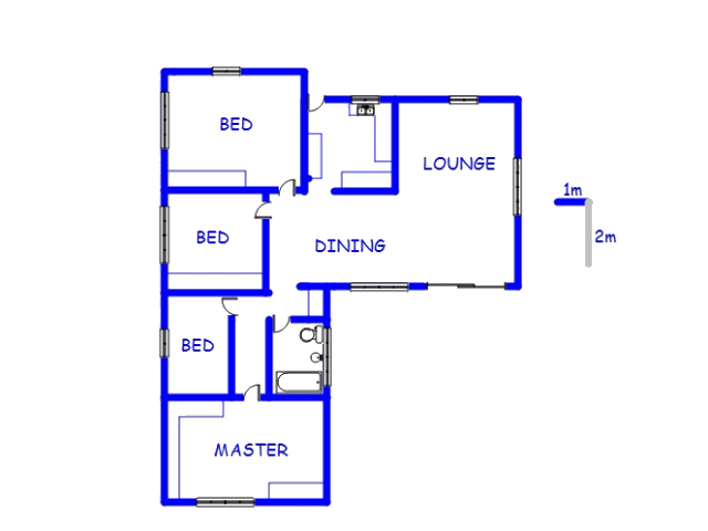 Floor plan of the property in Silverton