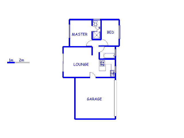 Floor plan of the property in Johannesburg North