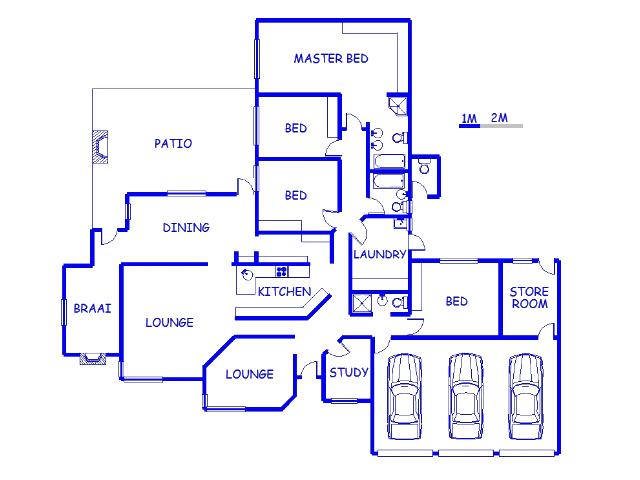 Floor plan of the property in Rooirivier Rif
