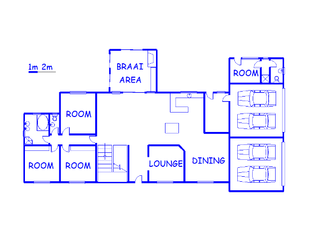 Floor plan of the property in Upington