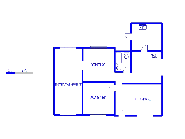 Floor plan of the property in Vrededorp