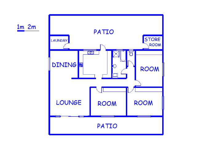 Floor plan of the property in Tulbagh