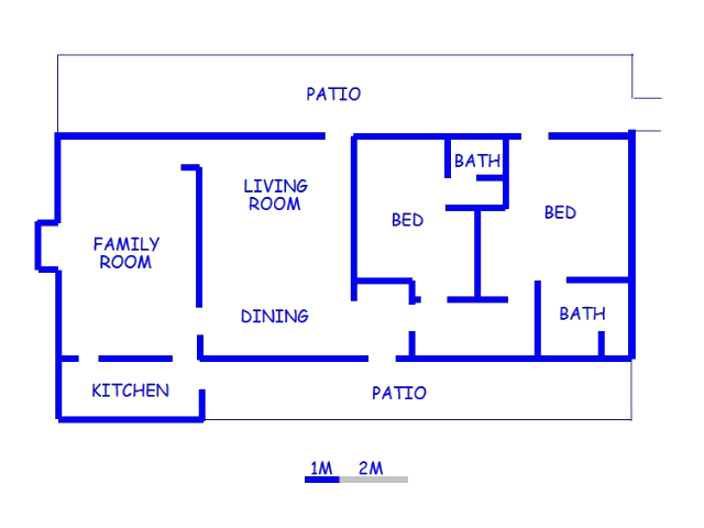 Floor plan of the property in Bathurst