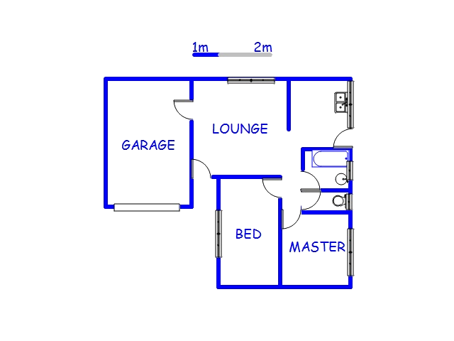 Floor plan of the property in Harding