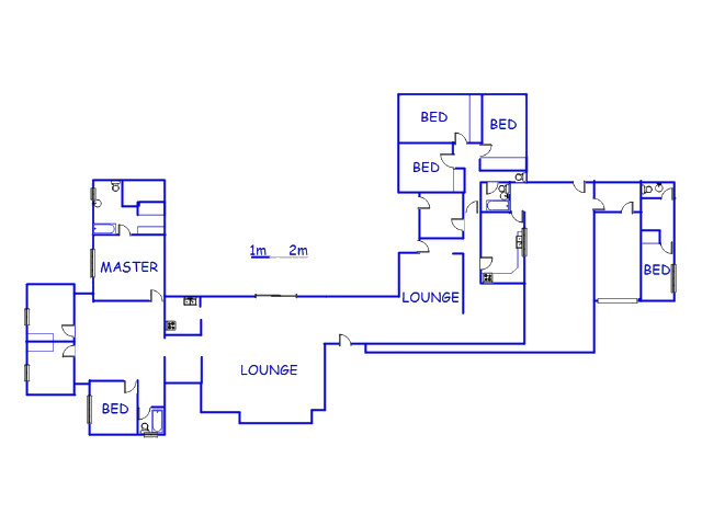 Floor plan of the property in Sannieshof