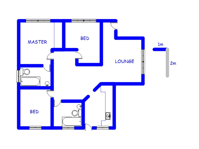 Floor plan of the property in Mahube Valley