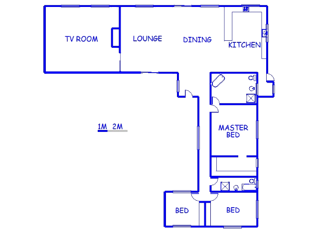 Floor plan of the property in Sea View