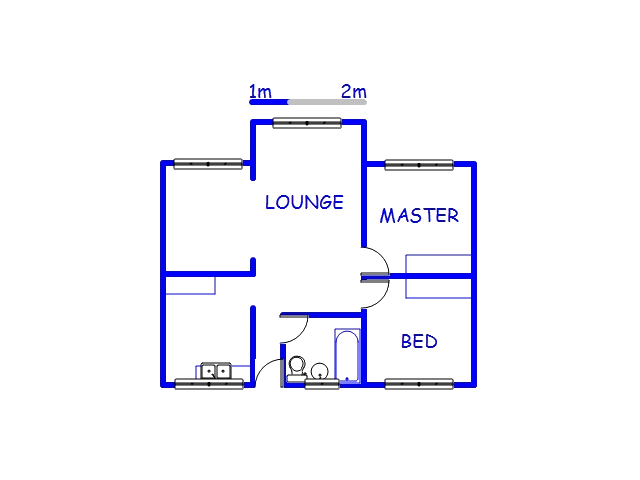 Floor plan of the property in Empangeni