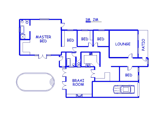 Floor plan of the property in Despatch