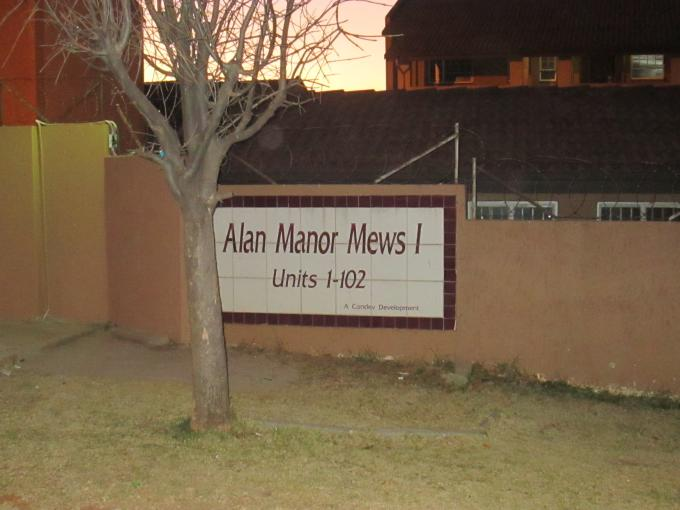 1 Bedroom Apartment for Sale For Sale in Alan Manor - Private Sale - MR112533