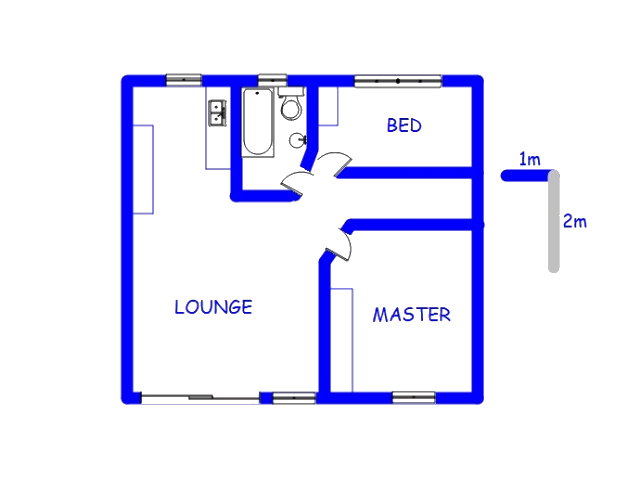 Floor plan of the property in Southernwood