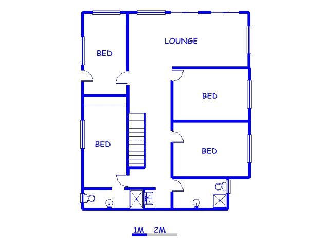 Floor plan of the property in Glentana