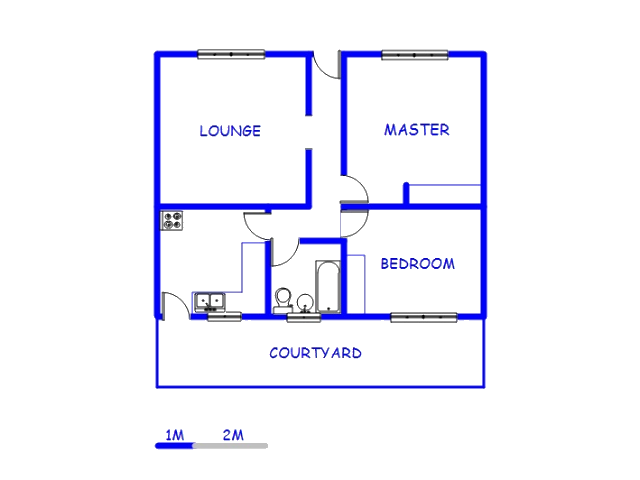 Floor plan of the property in West Turffontein