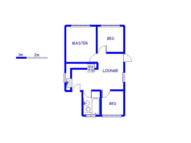 Floor plan of the property in Protea Glen
