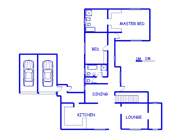 Floor plan of the property in Malabar