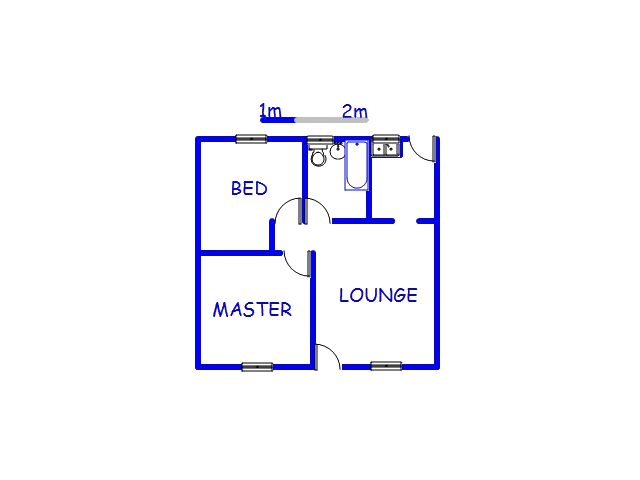 Floor plan of the property in Mpumalanga - KZN