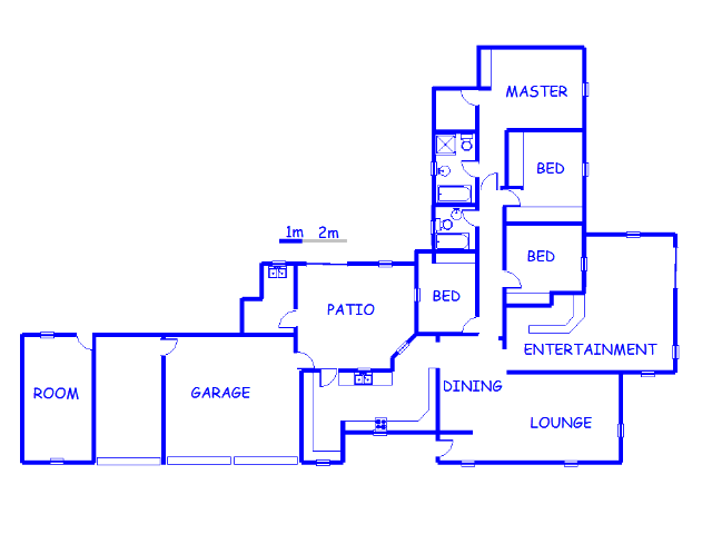 Floor plan of the property in Far East Bank