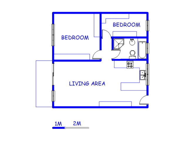 Floor plan of the property in Malvern