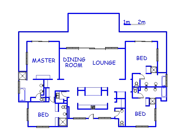 Floor plan of the property in Port Zimbali