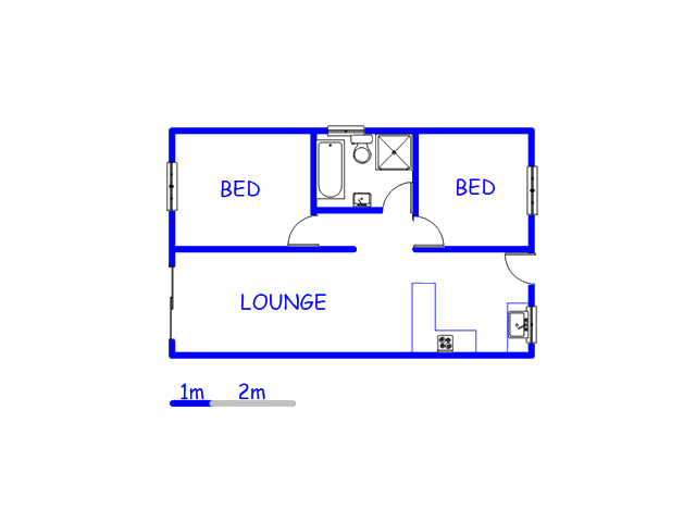 Floor plan of the property in Richmond Estate