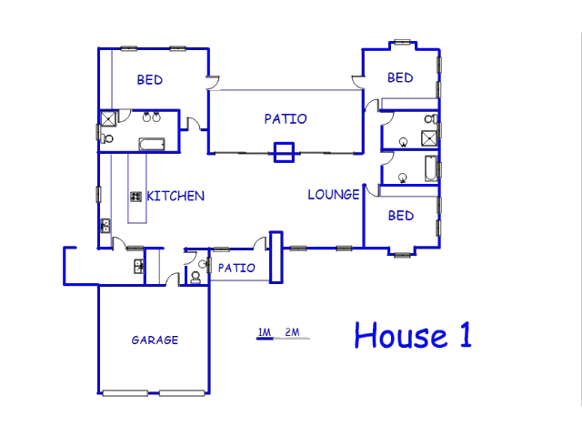 Floor plan of the property in Parys