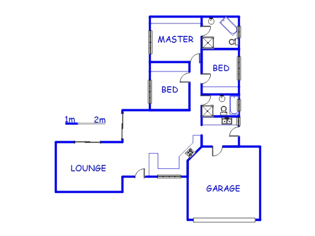 Floor plan of the property in Uvongo
