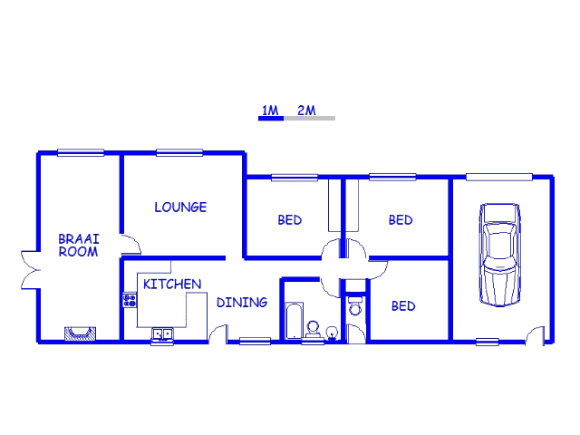 Floor plan of the property in Herolds Bay