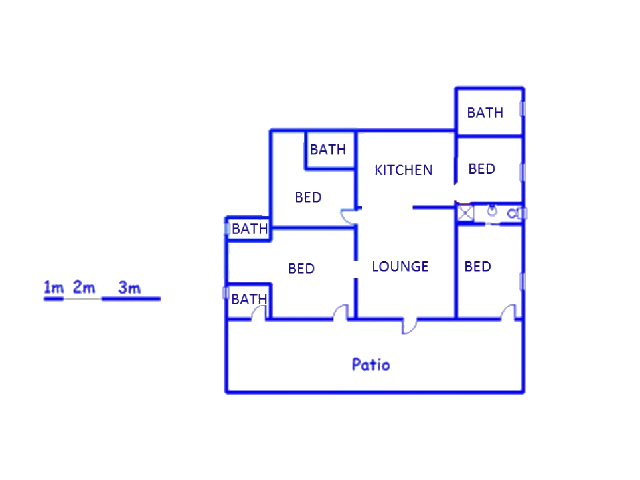 Floor plan of the property in Leydsdorp
