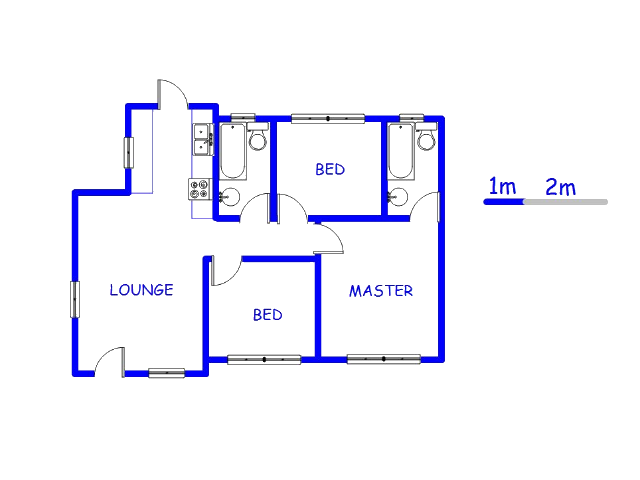 Floor plan of the property in Lotus Gardens