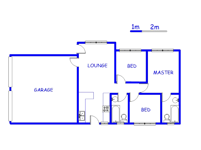 Floor plan of the property in Nellmapius