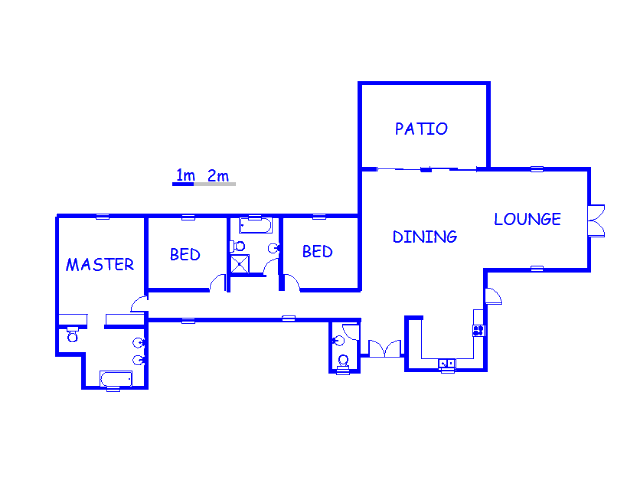 Floor plan of the property in Lanseria