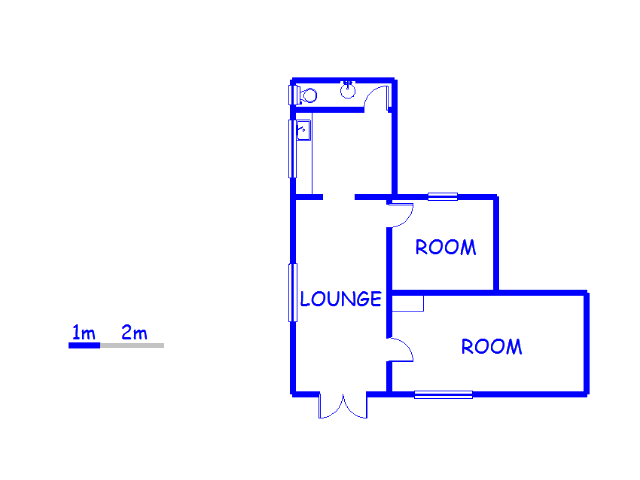 Floor plan of the property in Moseley Park