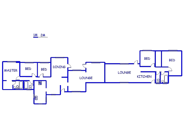 Floor plan of the property in Fontainebleau