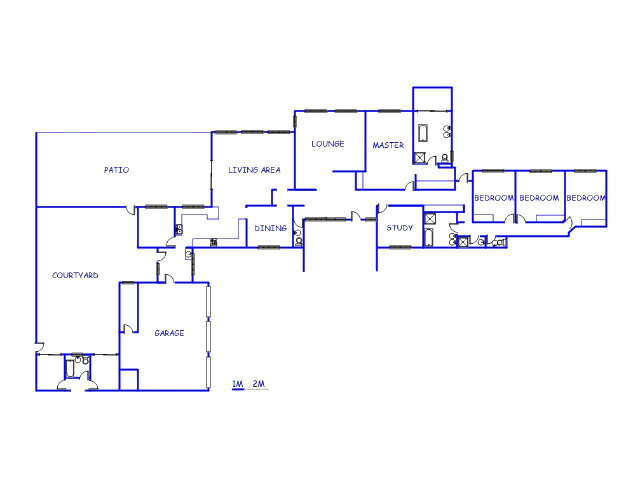 Floor plan of the property in Poortview A.H.