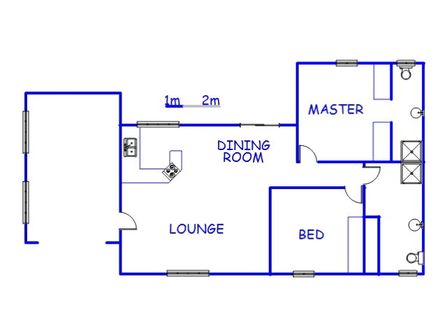 Floor plan of the property in Umzumbe