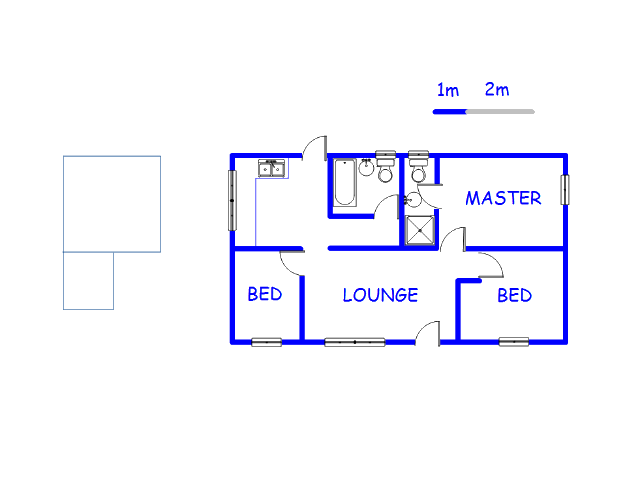 Floor plan of the property in Fairview - PE