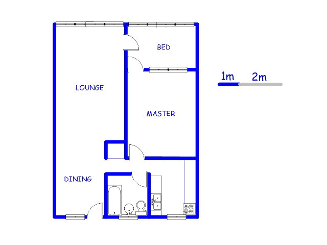 Floor plan of the property in Queenswood