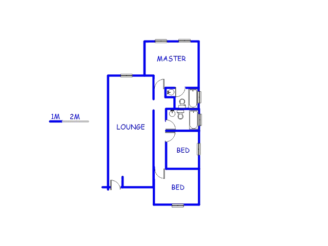 Floor plan of the property in Mulbarton